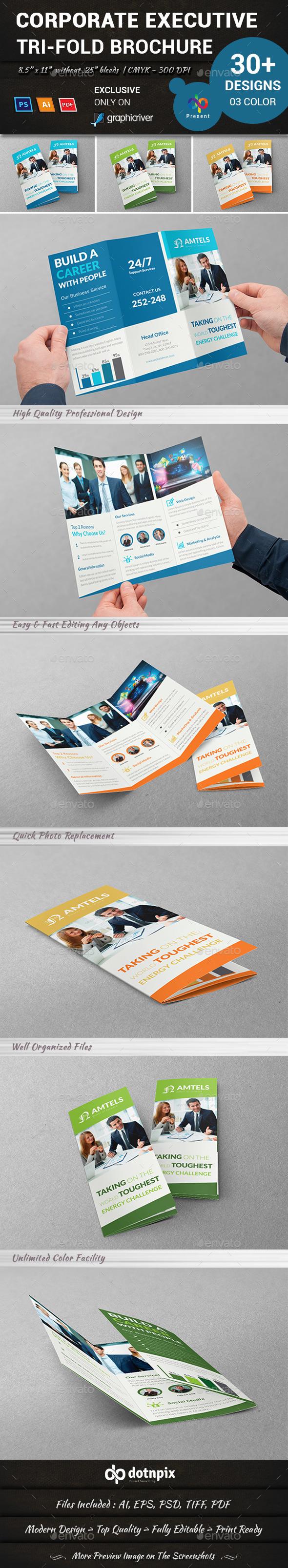 GraphicRiver Corporate Executive Tri-Fold Brochure 10981625