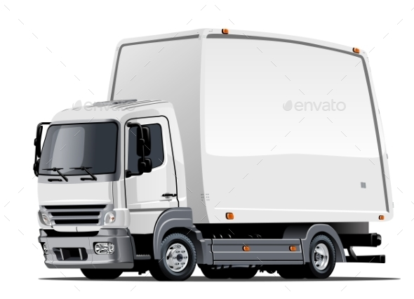 GraphicRiver Cartoon Delivery or Cargo Truck 10981631