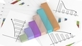 Colorful business bar chart on documents - PhotoDune Item for Sale