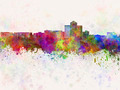 Tucson skyline in watercolor background - PhotoDune Item for Sale
