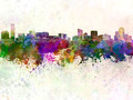 Grand Rapids skyline in watercolor background - PhotoDune Item for Sale