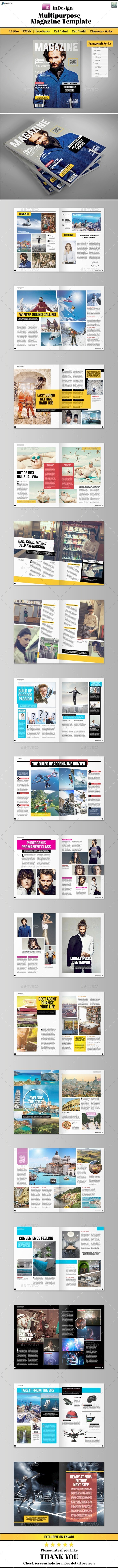 GraphicRiver Multipurpose Magazine Template 10981839