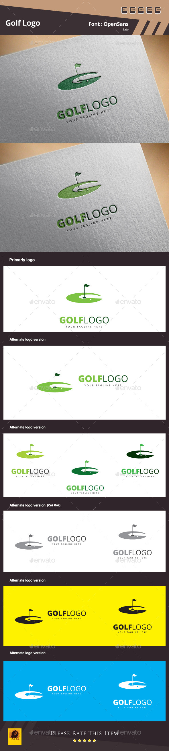 GraphicRiver Golf Logo Template 10981980
