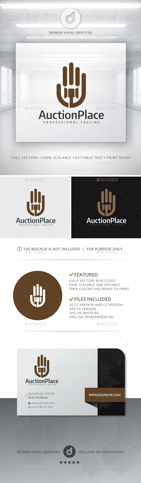 GraphicRiver Auction Place Logo 10982532