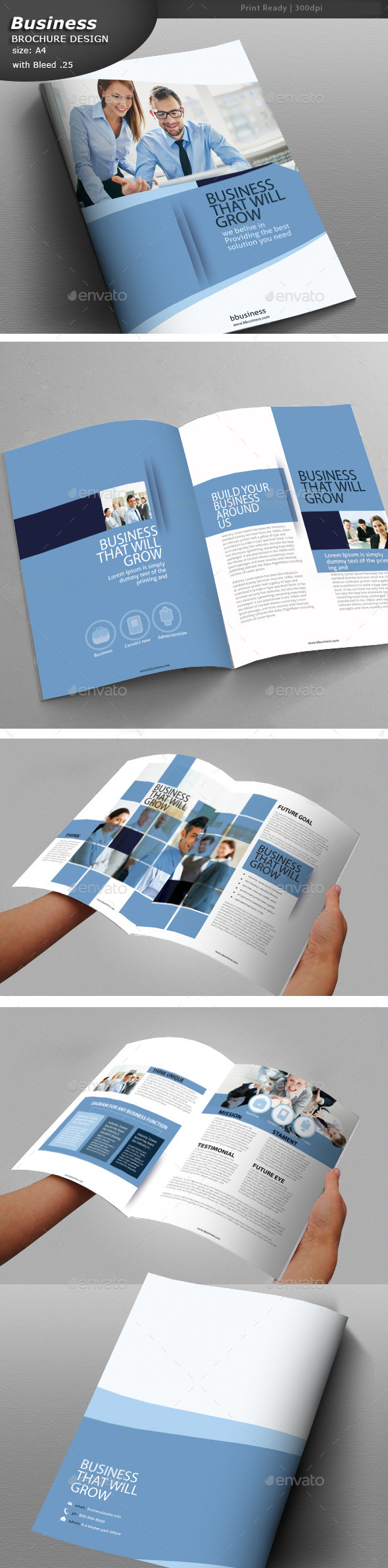 GraphicRiver Clean Business Brochure 10932055