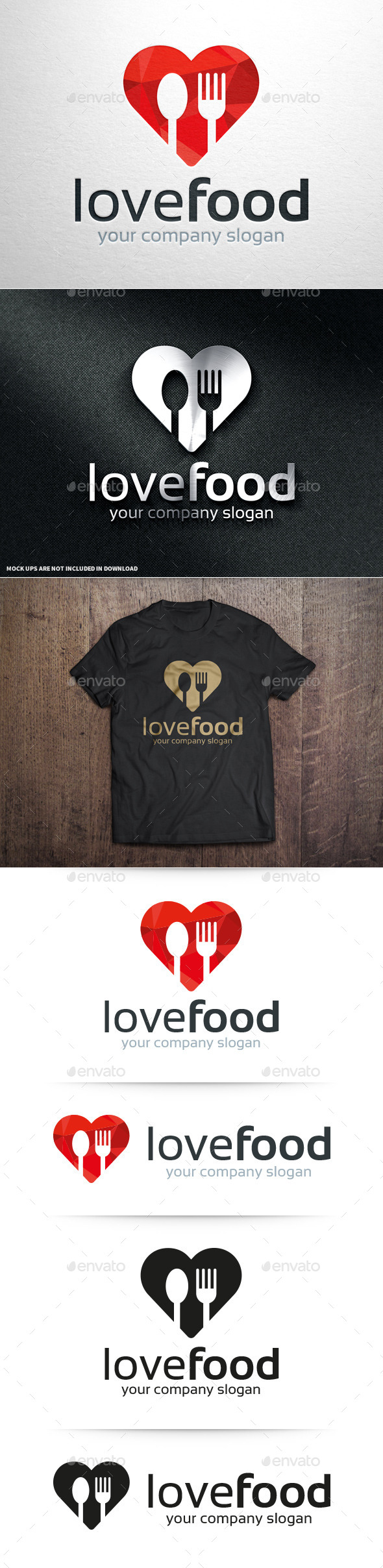 GraphicRiver Love Food Logo Template v2 10982546