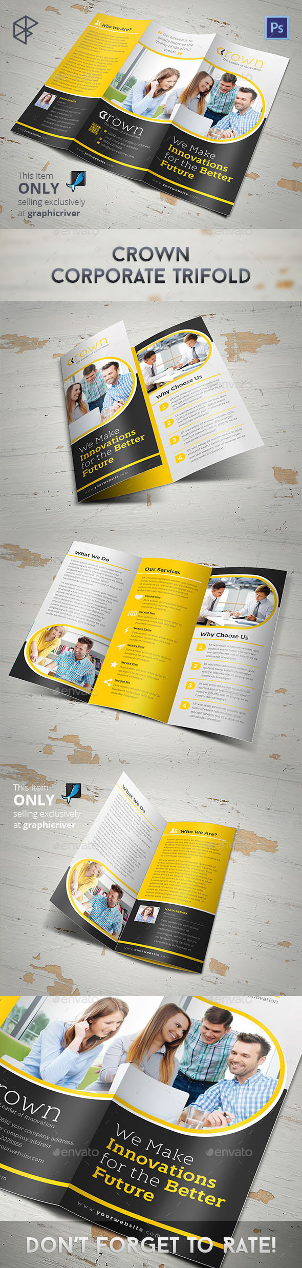 GraphicRiver Crown Corporate Trifold 10982764