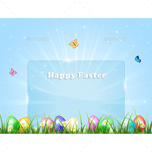 GraphicRiver Easter Banner with Eggs 10982799