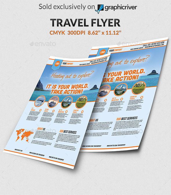 GraphicRiver Travel Agency Flyer 10982912