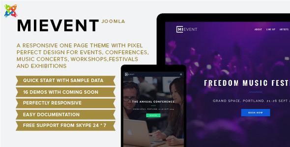 ThemeForest Mievent Multipurpose Joomla Event & Music 10982942