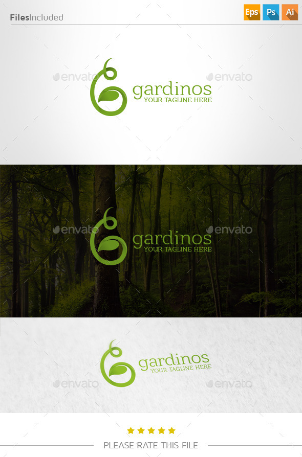 GraphicRiver Green Leaf Logo 10983001