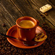 cup of coffee, sweet and coffee beans - PhotoDune Item for Sale