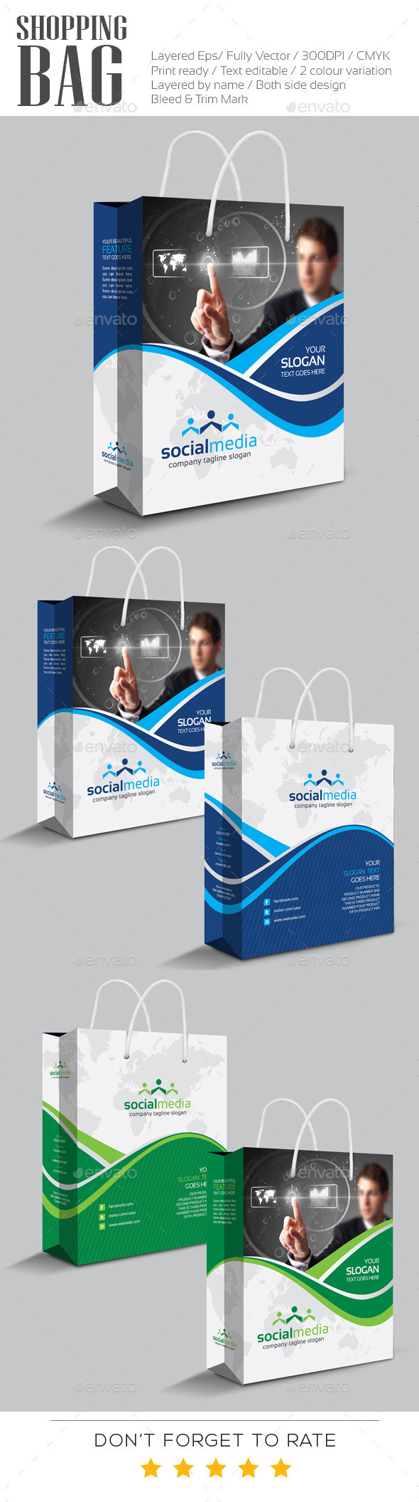 GraphicRiver Social Media Shopping Bag 10983229