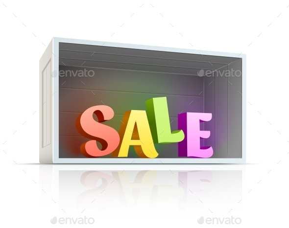 GraphicRiver Box with Sale Text Inside 10983260
