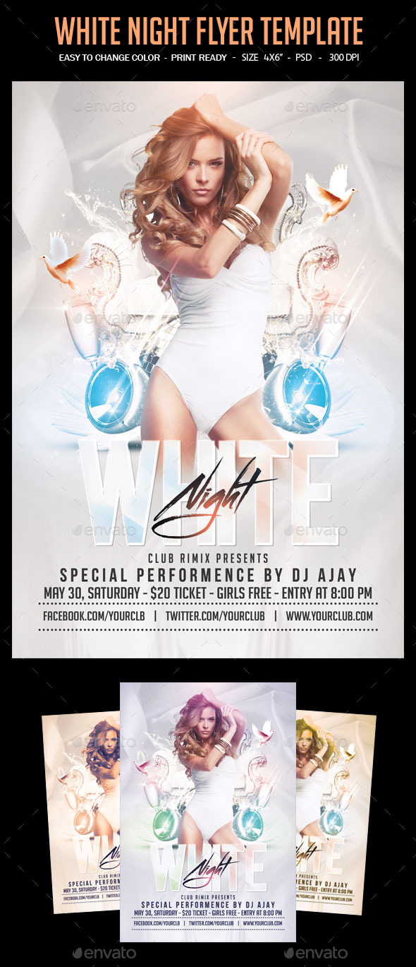 GraphicRiver White Night Flyer Template 10983266
