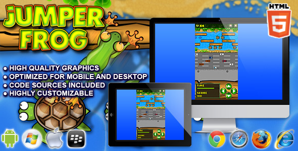 CodeCanyon Jumper Frog HTML5 Game 10983641