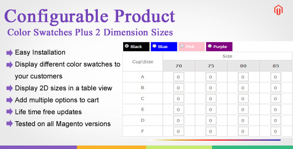CodeCanyon Magento Color Swatches Plus 2 Dimension Sizes 10983714