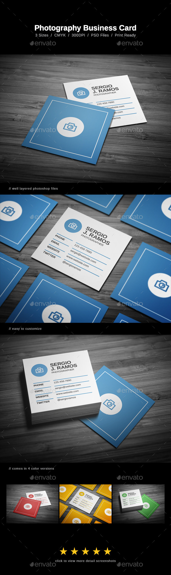 GraphicRiver Photography Business Card 10983755