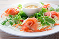 Smoke salmon with vegetable and spicy sauce - PhotoDune Item for Sale