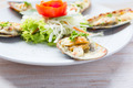 Baked Mussels under Cream Cheese - PhotoDune Item for Sale