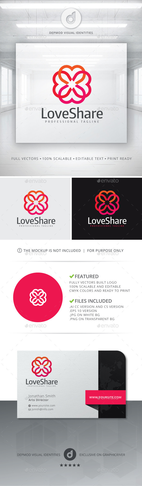 GraphicRiver Love Share Logo 10983851