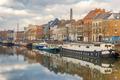 Picturesque embankment of the river Leie in Ghent, Belgium - PhotoDune Item for Sale