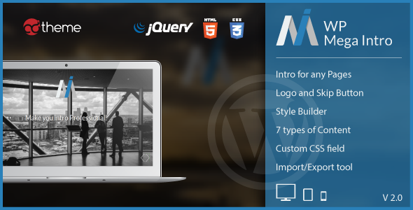 WP Mega Intro - Amazing Intro Pages for WP - CodeCanyon Item for Sale