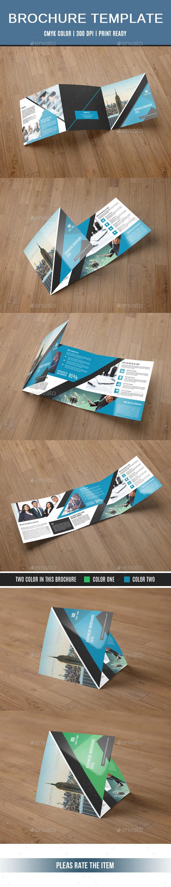GraphicRiver Corporate Square Trifold Brochure-V62 10984156