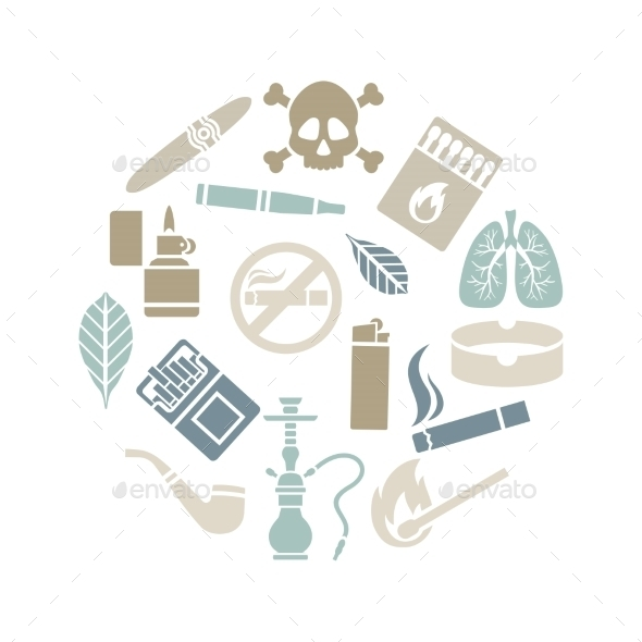 GraphicRiver Smoking Icons 10984193