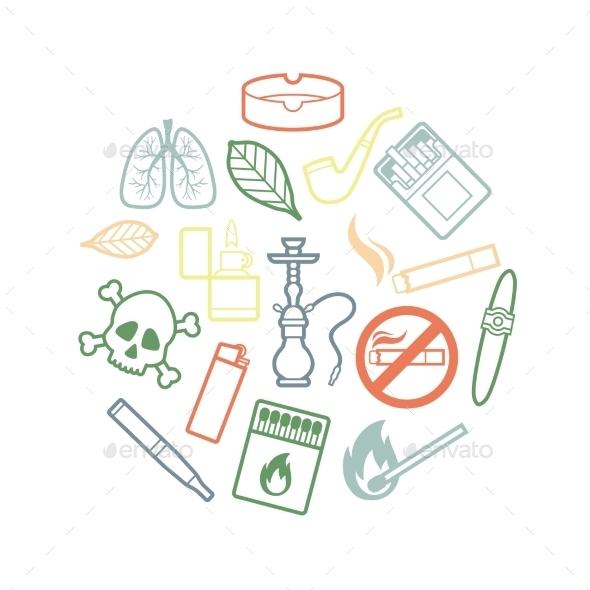 GraphicRiver Smoking Icons 10984244