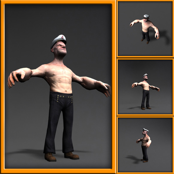 3DOcean Popeye 3D cartoon character 10984263
