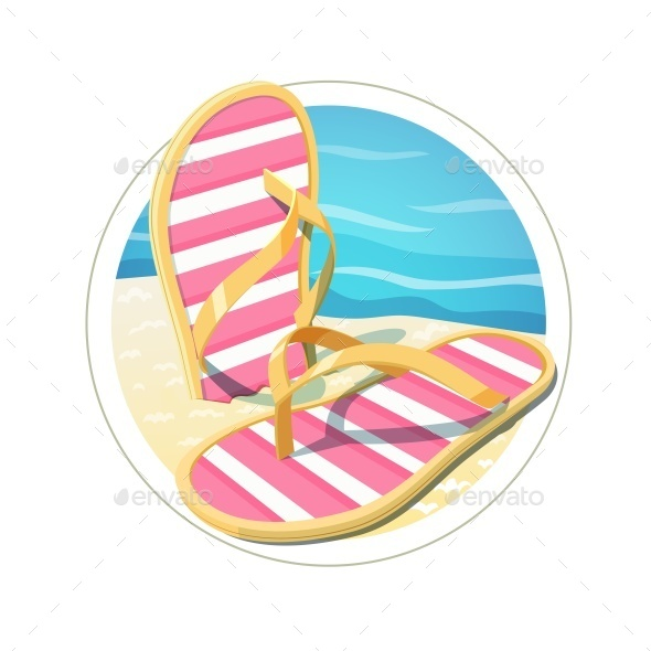 GraphicRiver Beach Flip Flops 10984436