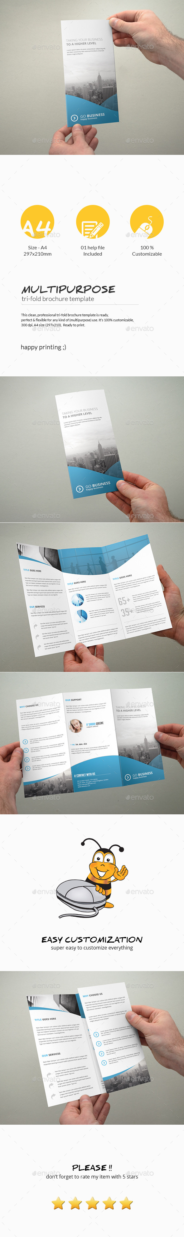 GraphicRiver Tri-Fold Brochure Multipurpose 10984503