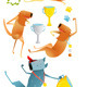 Winning Happy Dog Contest with Cups and Medals - GraphicRiver Item for Sale