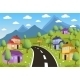 Rural Landscape with Small Town - GraphicRiver Item for Sale