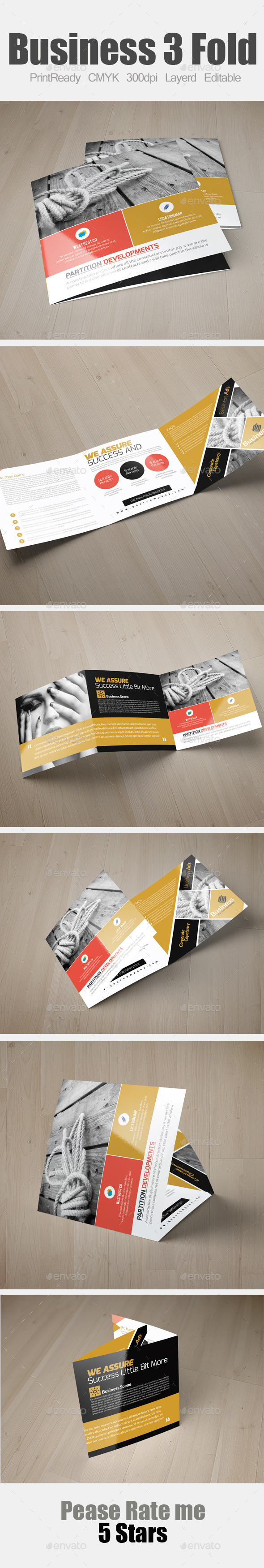 GraphicRiver Multi Use Business Square Trifold Template 10984816