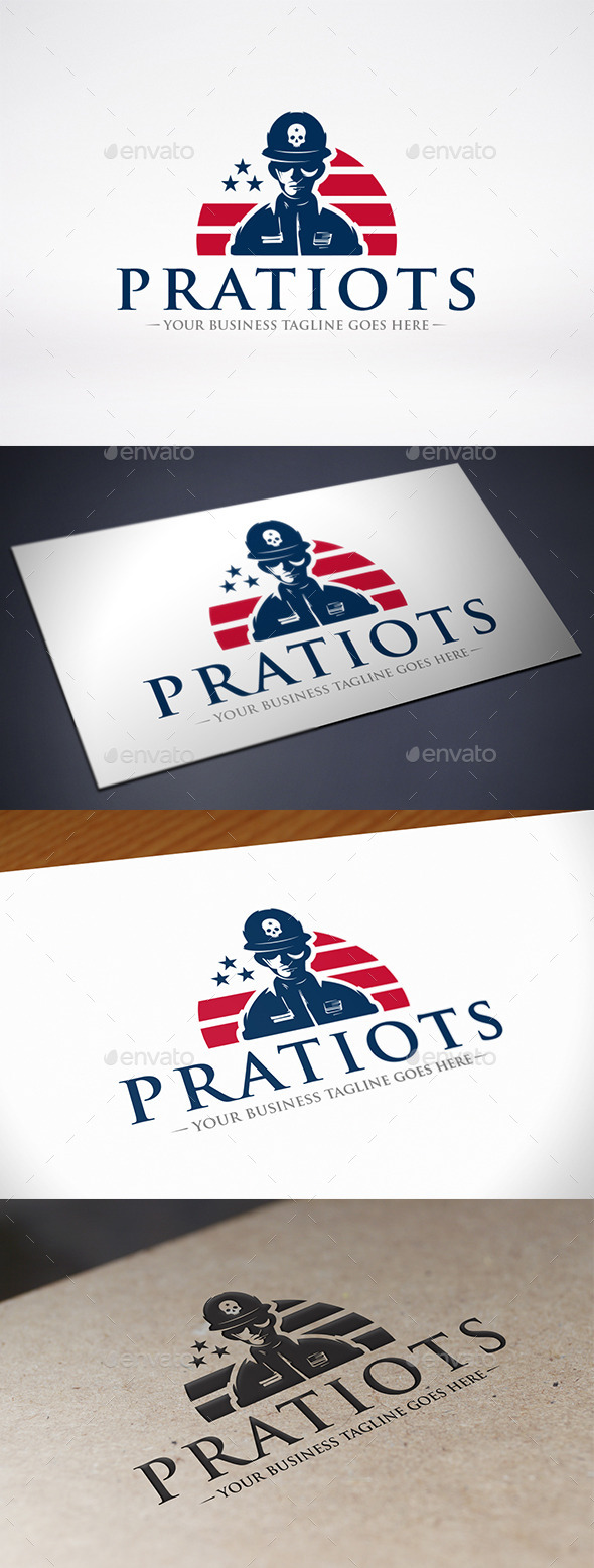 GraphicRiver American Patriot Soldier Logo 10984869