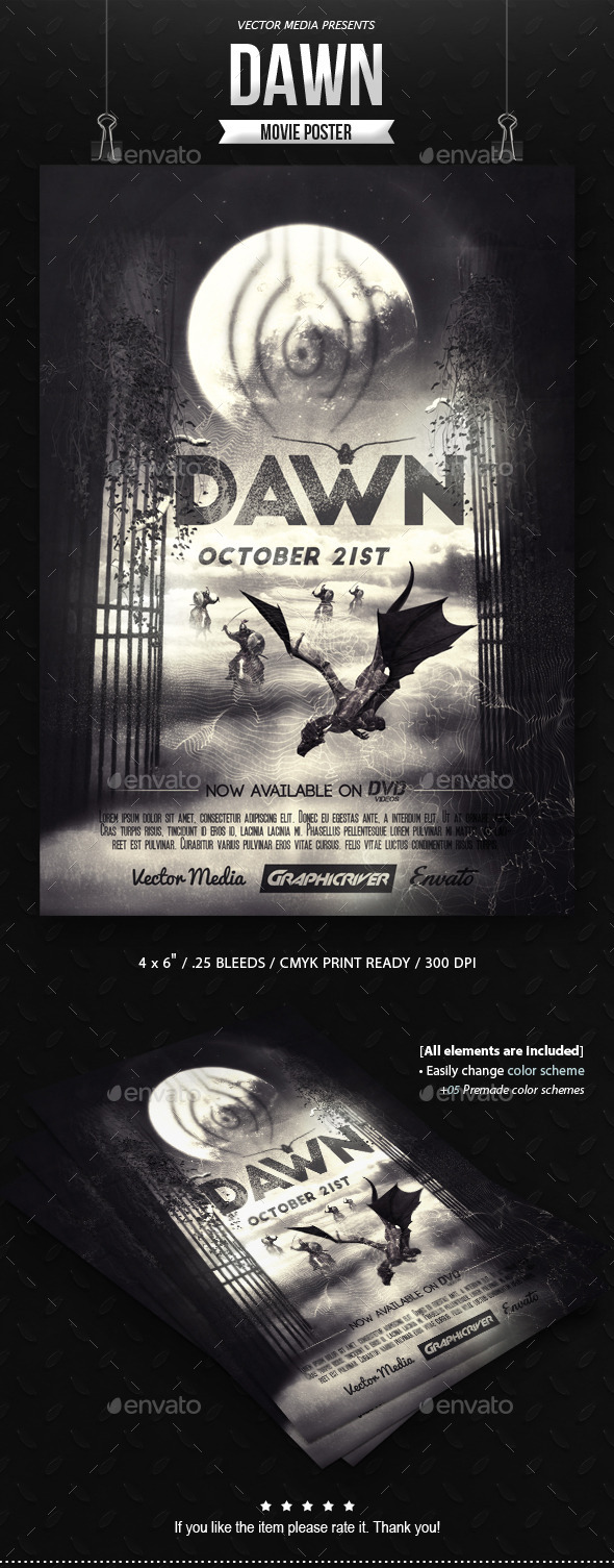 GraphicRiver Dawn Movie Poster 10984885