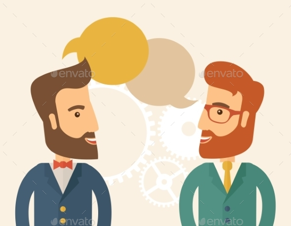 GraphicRiver Two Professional Young Men 10985085