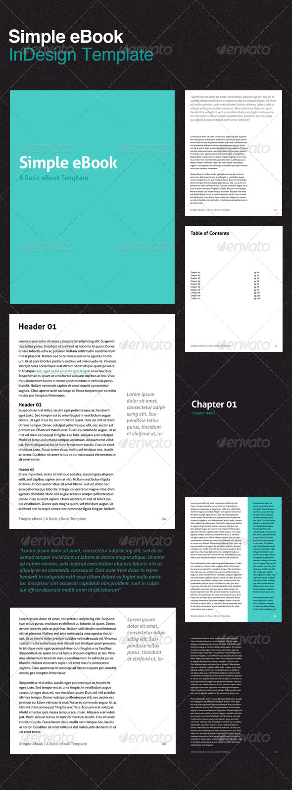 Simple eBook Template - Miscellaneous Print Templates