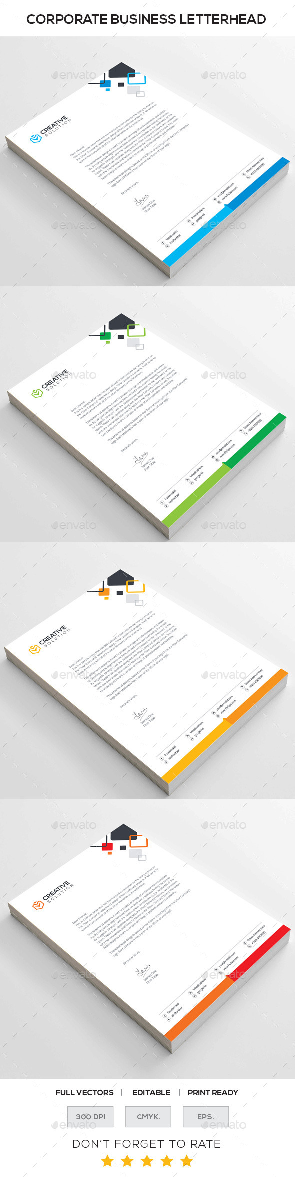 GraphicRiver CREATIVE SOLUTION Corporate Letterhead 10985202