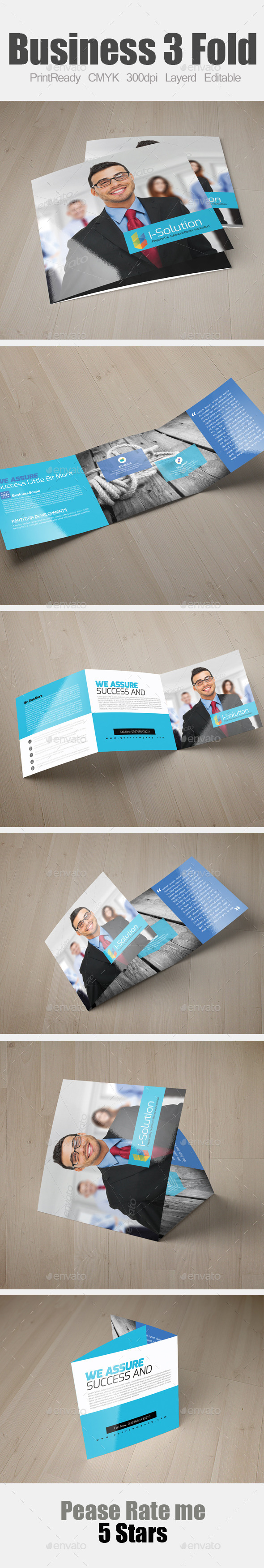 GraphicRiver Multi Use Business Square Trifold Template 10985210