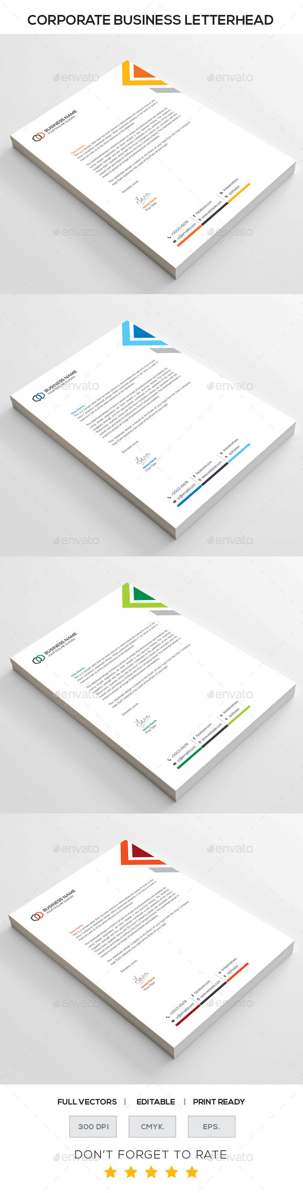 GraphicRiver Corporate Letterhead 10985229