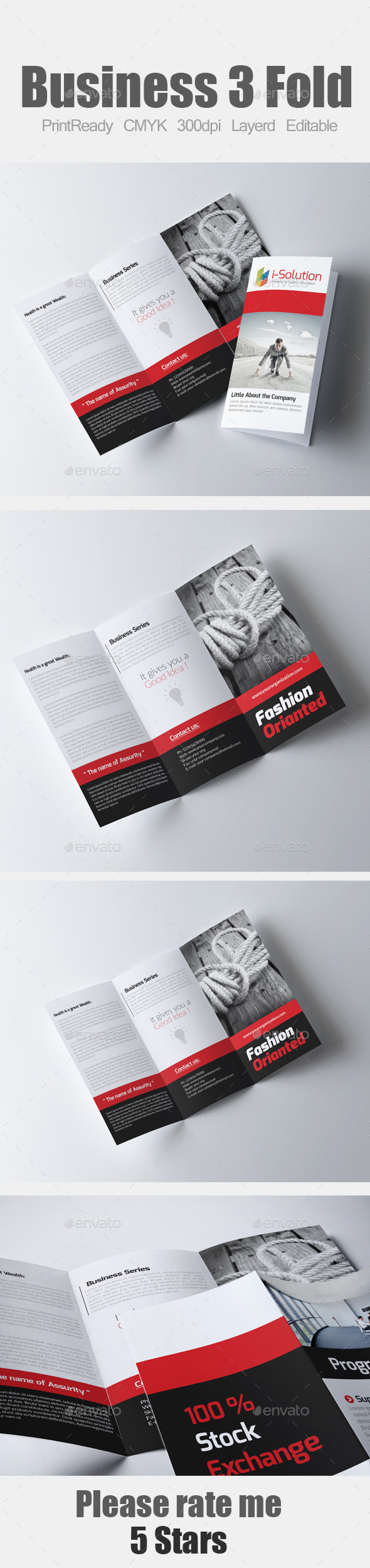 GraphicRiver Tri Fold Business Brochure 10985240