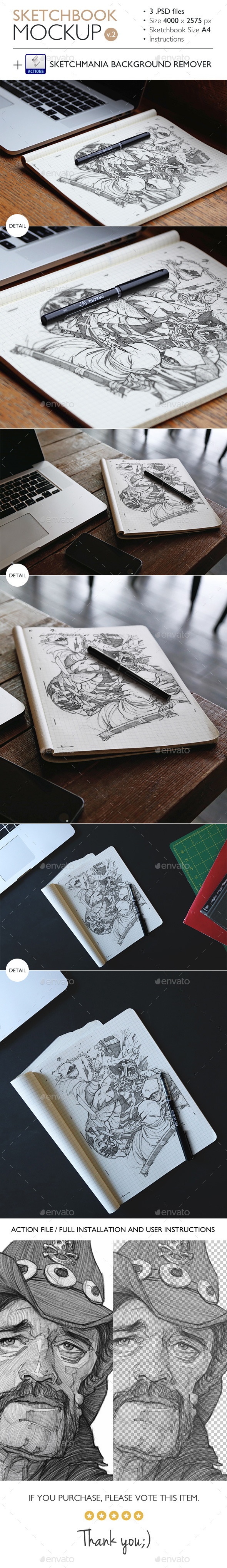 GraphicRiver Sketchbook Mockup v.2 10985251