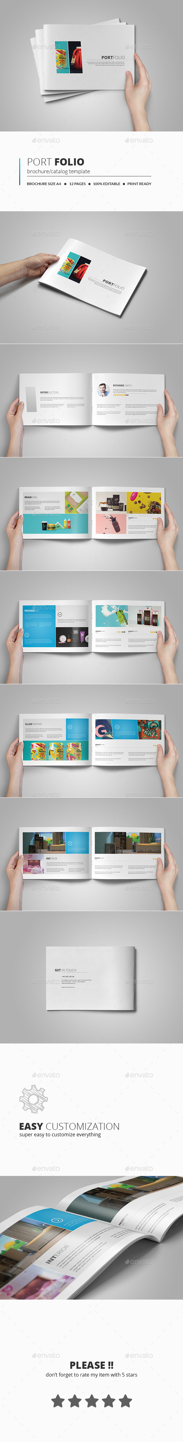 GraphicRiver Portfolio Brochure Template 10985261