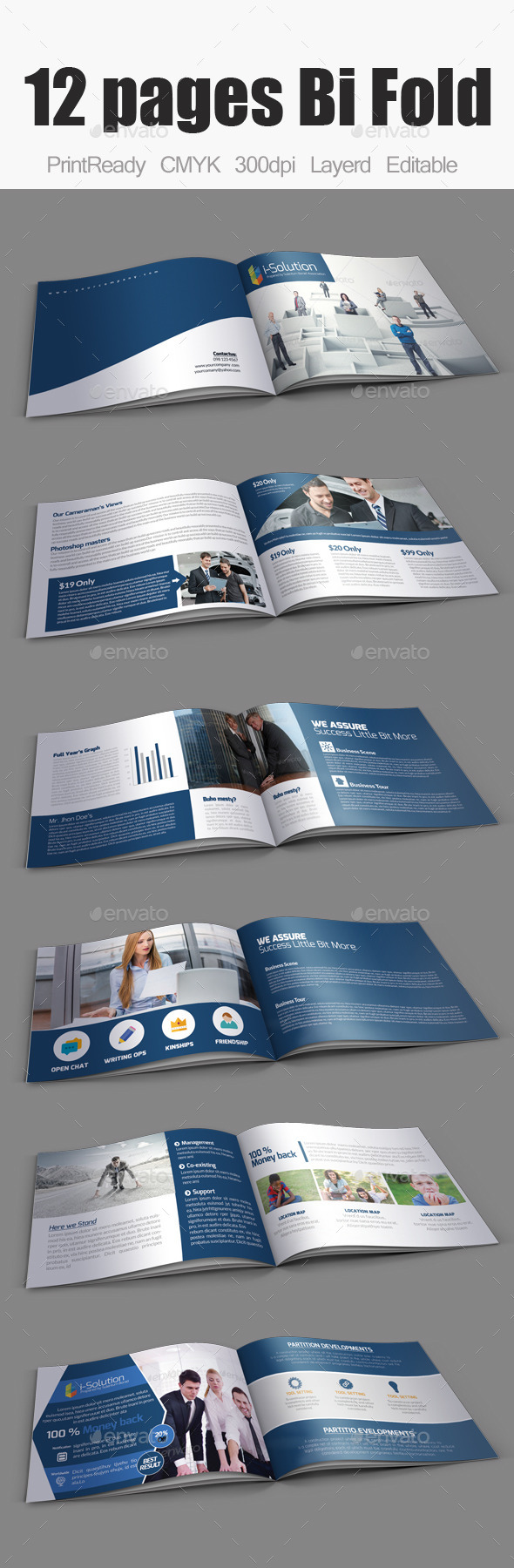 GraphicRiver Business Bifold Square Brochure Template 10985299