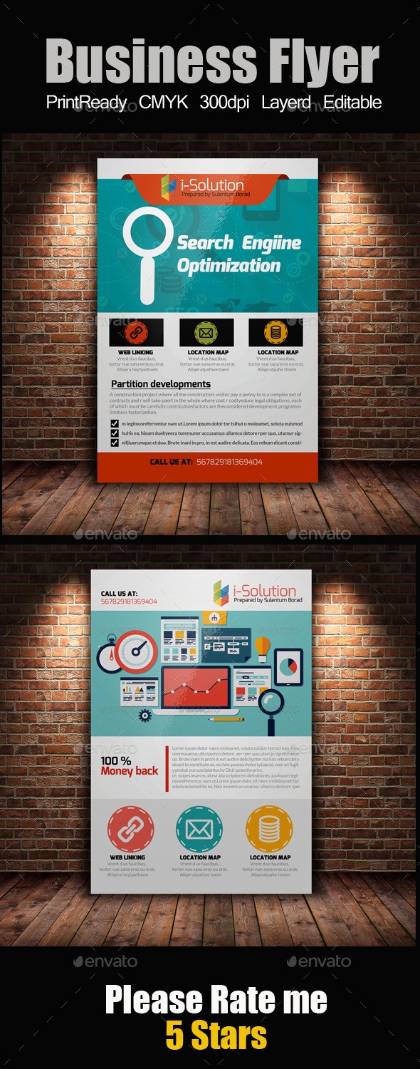 GraphicRiver SEO Flyer Template Bundle 10985338