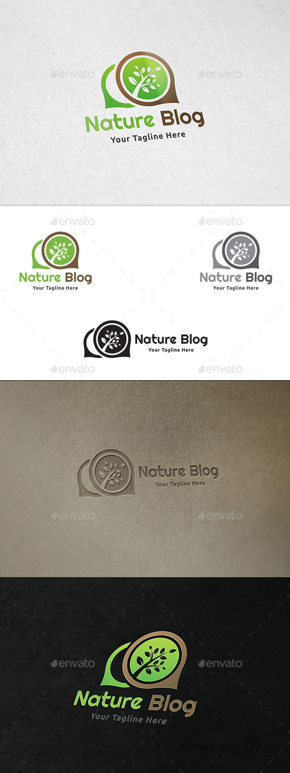 GraphicRiver Nature Blog Logo Template 10985344