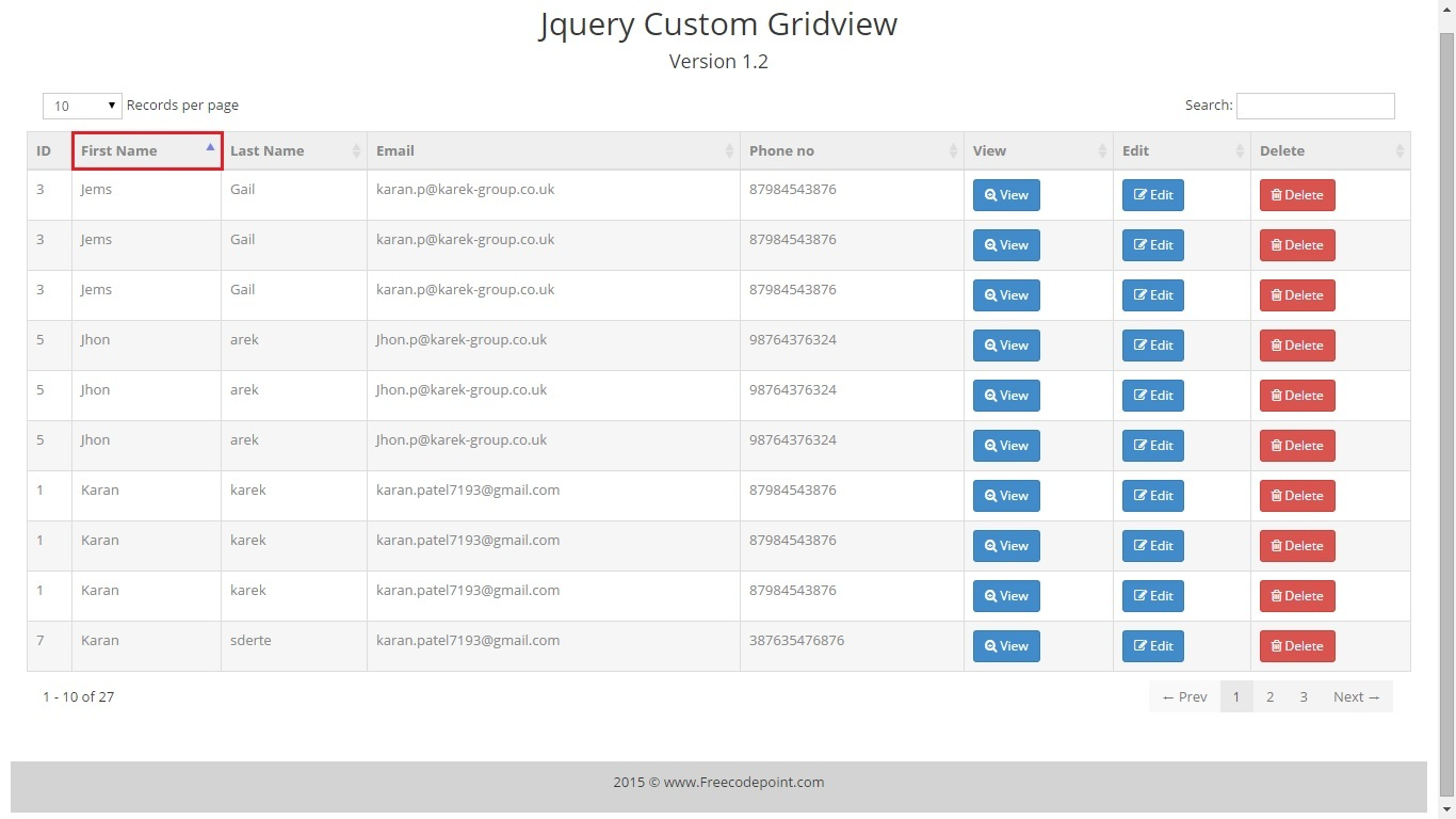 Jquery gridview custom control by karanpatel7193 codecanyon for Grid view templates in asp net